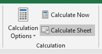 Calculation options