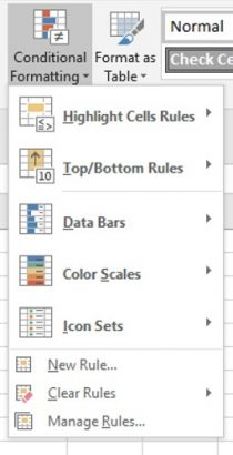 Conditional Formatting Selections