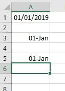 different dates