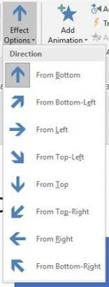 Effect Options List