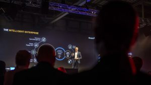 Jens Amail on stage at SAP InnovationX (c) 2019 SAP