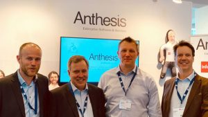 Anthesis and Vince Peder Floer (Vince), Peter Williamson (Anthesis), Charles Noden (Anthesis) and Øistein Reppe (Vince). Photo taken at Infor Inspire Conference, Amsterdam, April 2019 (c) Anthesis