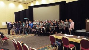 Attendees of the Hackathon4Good at Suiteworld 19 (c) S brooks 2019