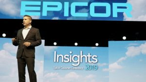 Steve Murphy on stage at Epicor Insights, (c) Epicor