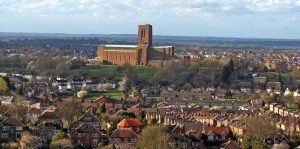 Guildford City and Cathedral (Image credit )Himar Santana Hernández [Public domain]