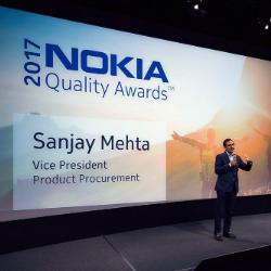 Sanjay Mehta, Vice President Procurement, Nokia.