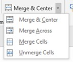 Merge and center list