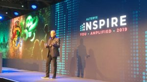 Dean Stocker, CEO and Chairman on stage at Alteryx Inspire (c) 2019 S Brooks