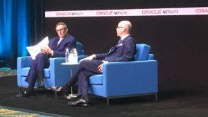 Mark Hurd with Evan Goldberg at Suiteworld 19 (c) Oracle