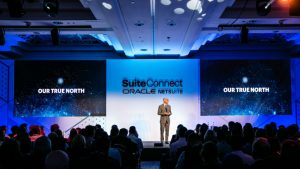 NetSuite SuiteConnect London 2019 Evan Goldberg on stage
