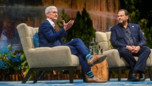 Cook and Benioff at Dreamforce 2019