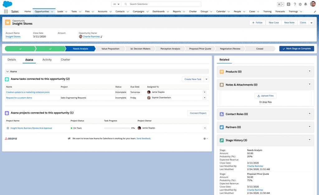 Asana and Salesforce integration