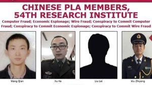 Equifax hackers named as members of Chinese Military (Image Credit: FBI)