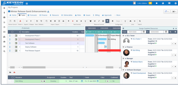 ScreenShot KeyedIn v7.0 Resourcing