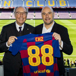 Josep Pont, FC Barcelona Board Member and Head of Commercial Area (Left), Alexandre Drefyus, CEO & Founder of Socios.com & Chiliz (Right)