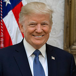 Donald Trump, President, United States (Image Credit: Official White House Photo by Shealah Craighead)
