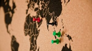 Asia Map Pins Image by athree23 from Pixabay