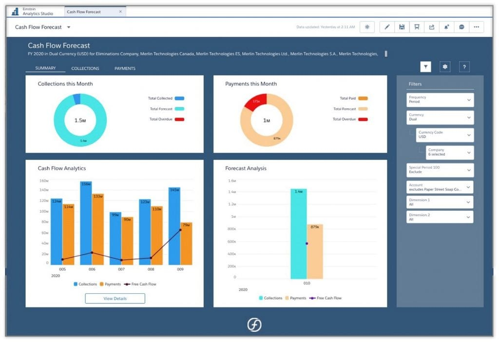 FinancialForce (2) 2020 Screenshot Cash Flow Forecasting