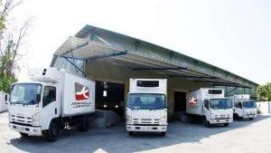 John Keells Logistics trucks (c) John Keelles 2020)