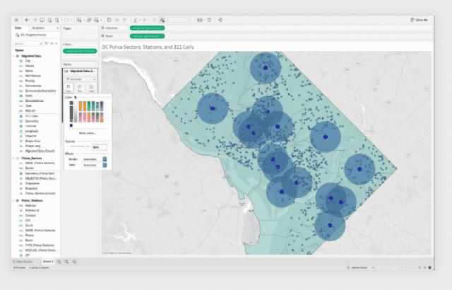 Tableau Geo Spatial screenshot 2020.4
