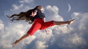 Girl Cloud Jump Image by Stefan Keller from Pixabay