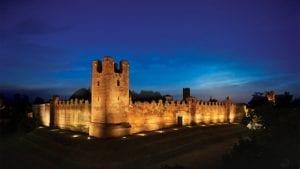 (c) Linea Lights. Castle of Castelfranco, Veneto