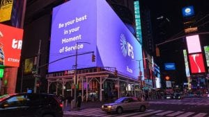 IFS rebranding Times Square New York