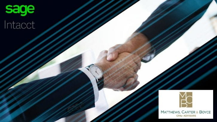 Matthews, Carter & Boyce brings Sage Intacct to the fore