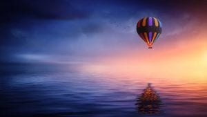 Briggs RISE Hot air balloon Dawn Image by Bessi from Pixabay