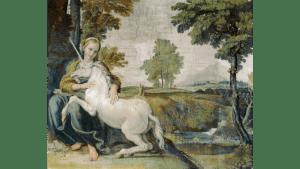 Virgin and Unicorn - Domenichino, Public domain, via Wikimedia Commons