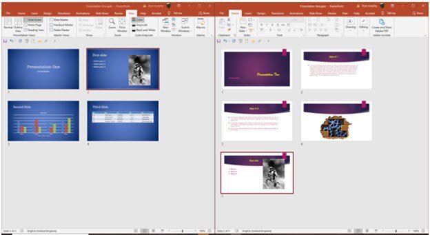 copied to second presentation