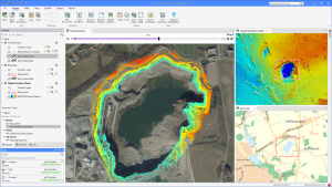 Time series analysis of granite quarry extraction in MapInfo Pro v2021 (c) Precisely