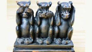 Three Monkeys evil. Image by Robert Fotograf from Pixabay
